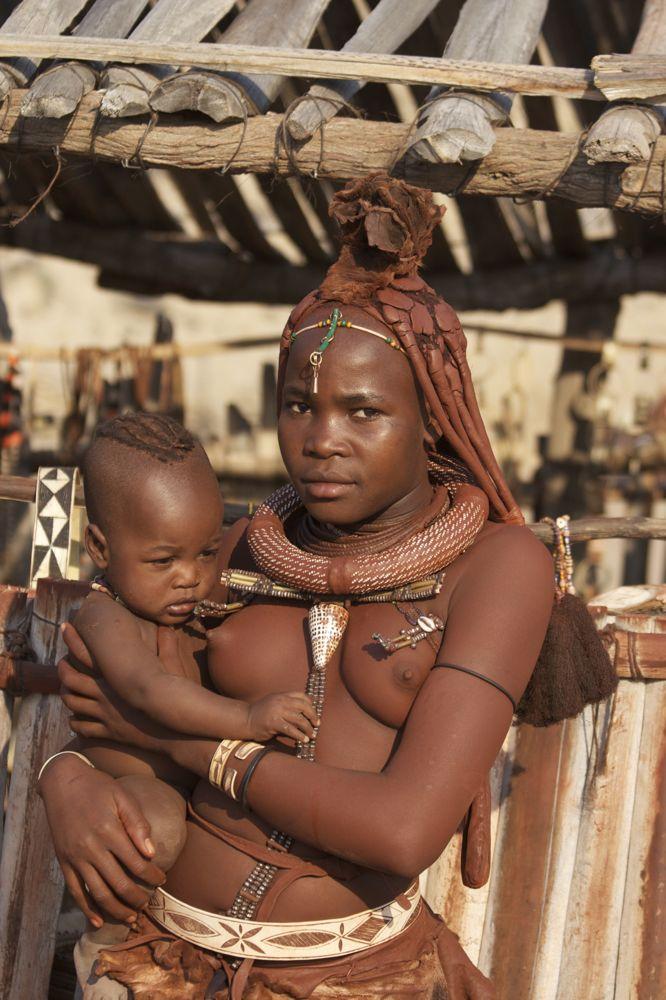 Himba Holiding Baby