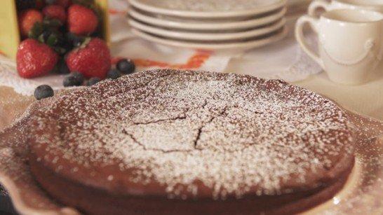 Gluten-Free Chocolate Pecan Cake