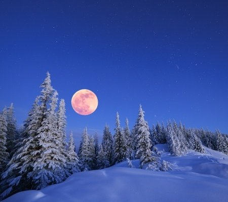 Happy Full Cold Moon & Winter Solstice